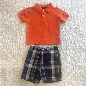 IZOD baby boys polo and coordinating shorts 3/6mos